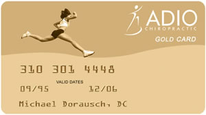 ADIO Chiropractic Gold Card