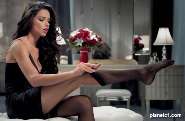 Adriana Lima 2012 Super Bowl Ad in Stockings