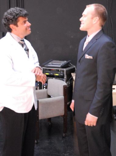 Dr. Mancini and Steven Chalk