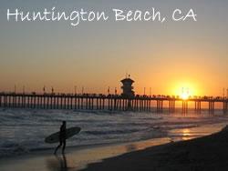 Huntington Beach Surf in California
