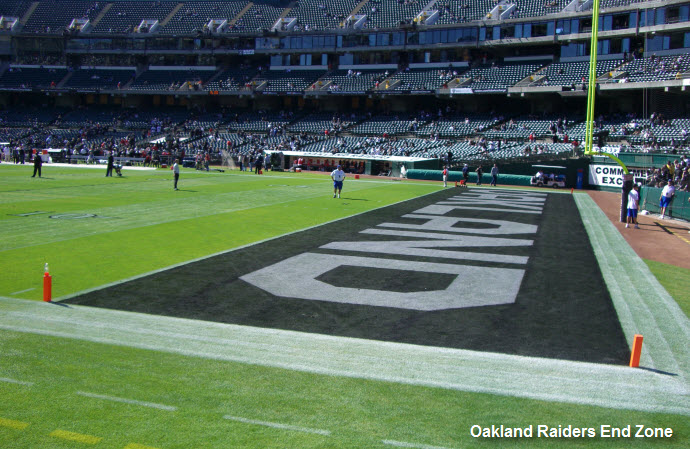 Oakland Raiders End Zone