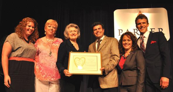 Oklahaven Parker Chiropractic Golden Heart Award