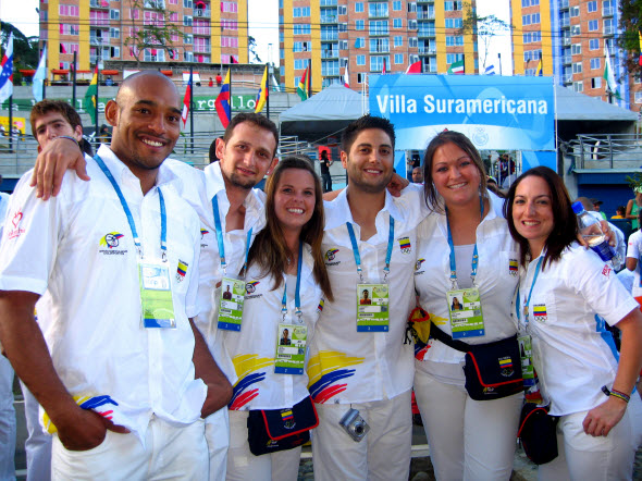 Parker College faculty doctor and student interns at Olympic Villa during South American Games