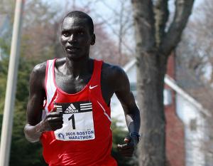 2008 Boston Marathon winner Robert Kipkoech Cheruiyot