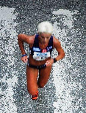 Runner Competing in 2008 Stockholm Marathon