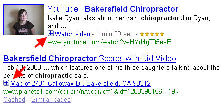 Bakersfield blended search results