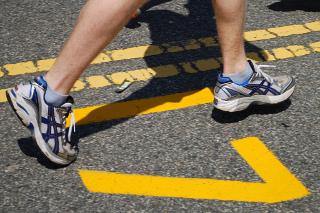 Boston Marathon Mile 17 Marker