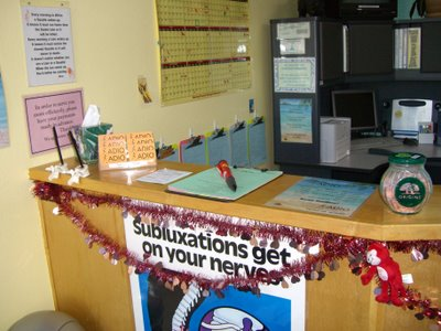 front desk chiropractic office