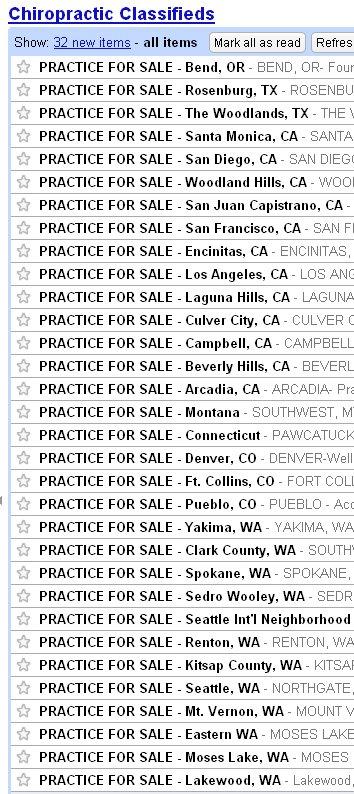 chiropracticclassifieds - practices for sale - Oregon Texas California Montana