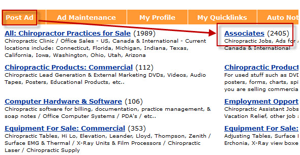 chiropractic jobs associates ad