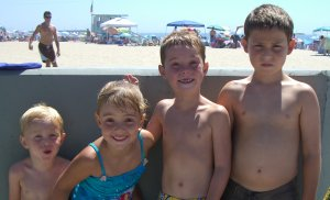 chiropractic kids at the beach