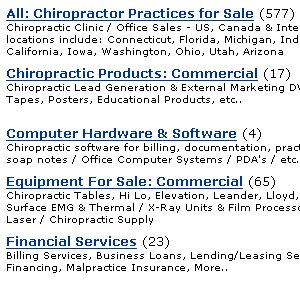 Chiropractic Practices for Sale - 577 listings - Connecticut Florida California