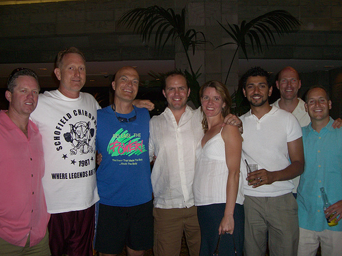 6 chiropractors and 2 spouses