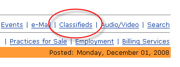 classified advertisements from a news page