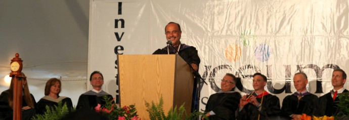 Ed Cordero smiling while speaking