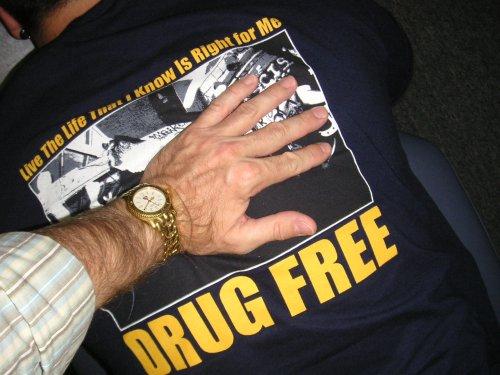 drug-free T-shirt