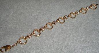 gold Atlas bracelet with diamonds