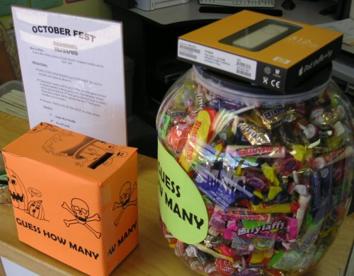 guess how many candies Halloween contest