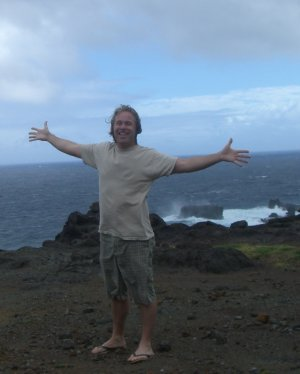Michael Dorausch along the coastline of Maui