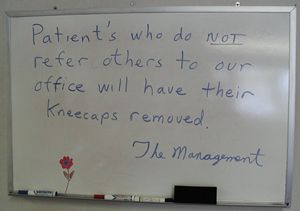 A notice from The Management