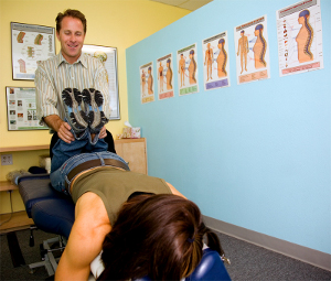 Chiropractor leg check functional postural assessment