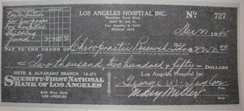los angeles hospital chiropractic check