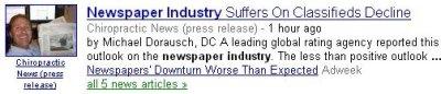 newspaper industry classified news