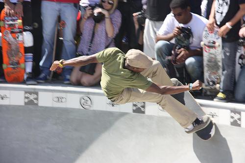 Old-School Skateboarder Venice Beach California