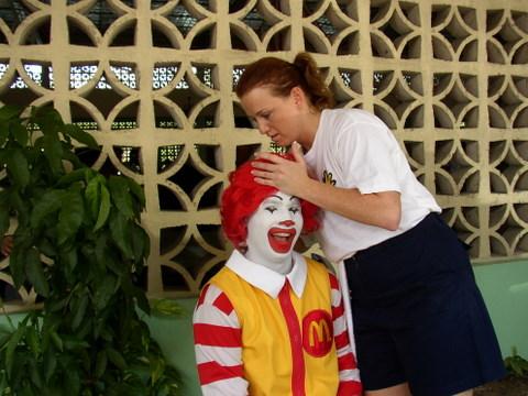 Ronald McDonald Gets Adjusted