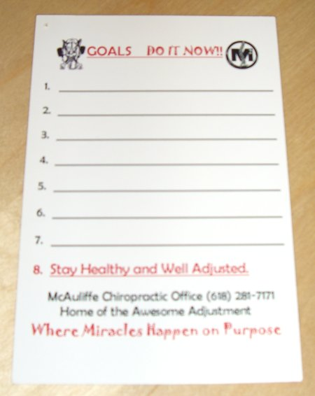 setting goals postcard