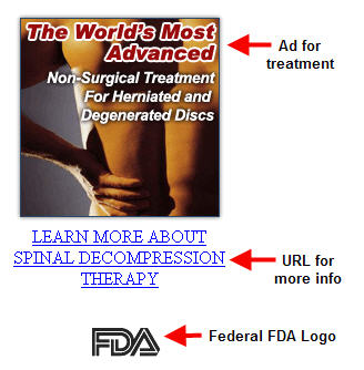spinal decompression therapy with FDA logo