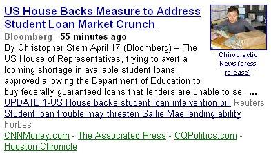 student loan market crunch screen cap