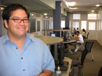 Future Doctor Rick Guerrero shows us the new AV center at CCCLA
