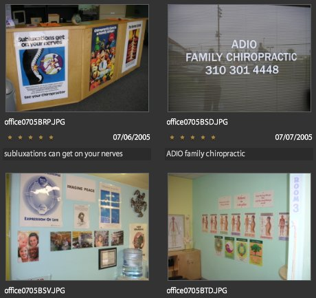 screenshot from Photoshop express chiropractic user