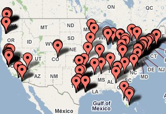 top companies US map local chiropractors