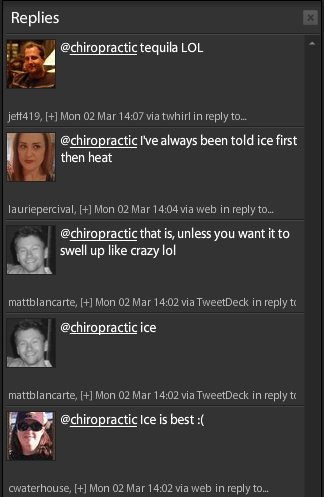 Peeps on Twitter respond to Heat or Ice question.
