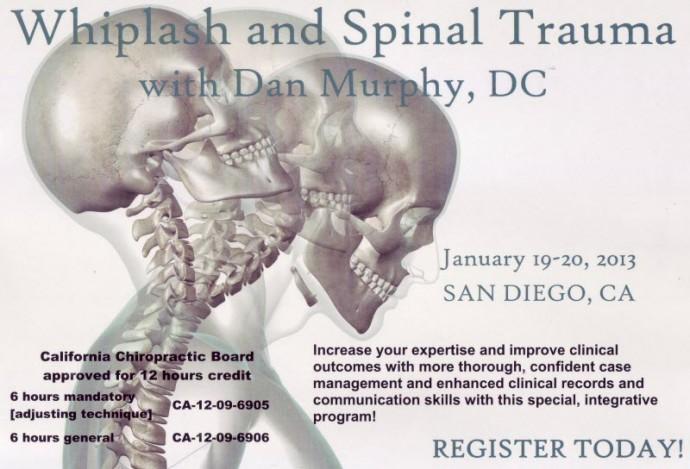 whiplash spinal trauma San Diego