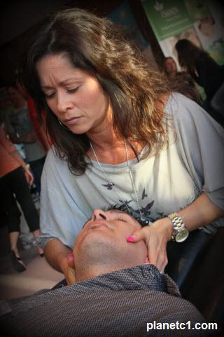 woman chiropractor adjusting